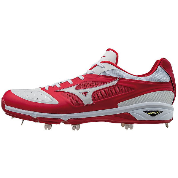Mizuno Dominant IC Low Metal Cleats - Red White