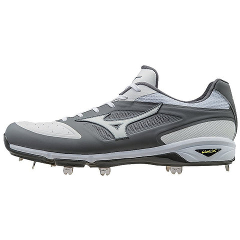 Mizuno Dominant IC Low Metal Cleats - Gray White
