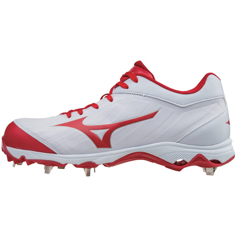 Mizuno 9-spike Advanced Sweep 3 Cleats - White Red