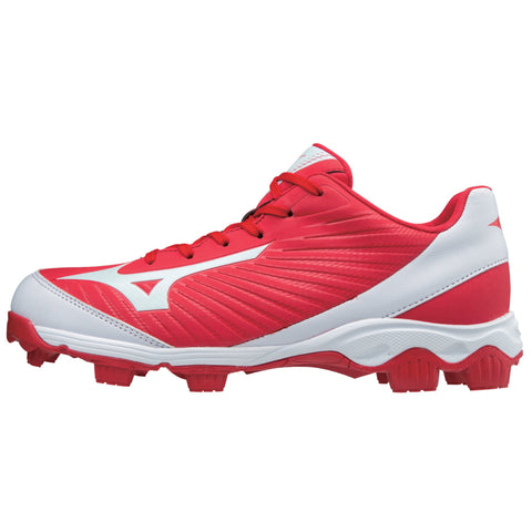 Mizuno Men's 9-Spike Advanced Franchise 9 Low Molded Cleats - Red White - HIT A Double