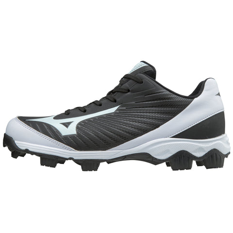 Mizuno Men's 9-Spike Advanced Franchise 9 Low Molded Cleats - Black White - HIT A Double