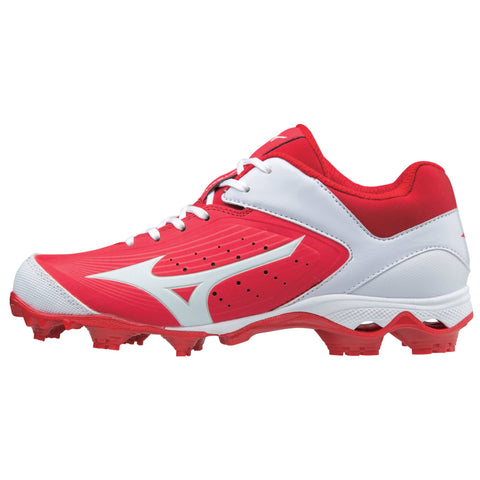 Mizuno Women's 9-Spike Advanced Finch Elite 3 FP Cleats - Red White