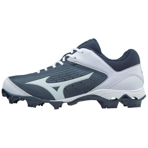 Mizuno Women's 9-Spike Advanced Finch Elite 3 FP Cleats - Navy White