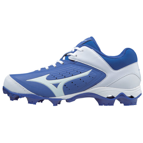 Mizuno Women's 9-Spike Advanced Finch Elite 3 FP Cleats - Royal White