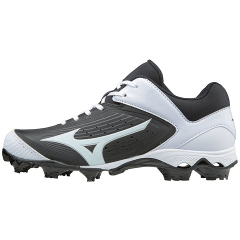 Mizuno Women's 9-Spike Advanced Finch Elite 3 FP Cleats - Black White