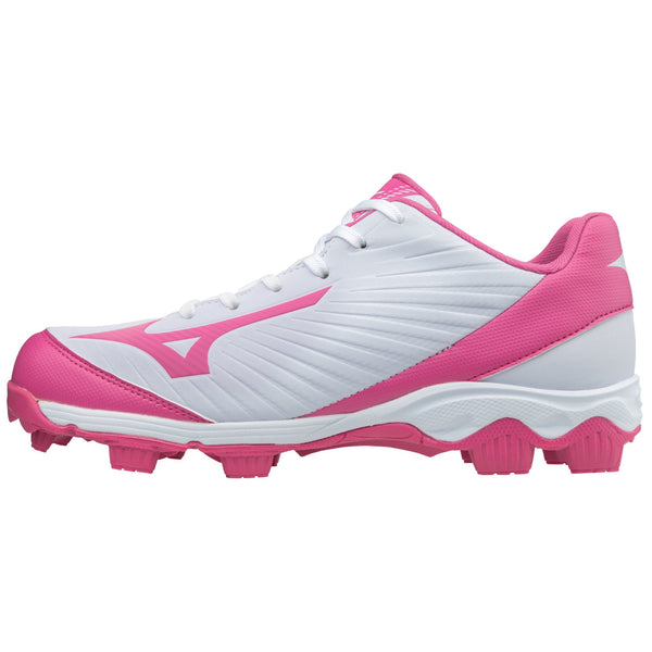 Mizuno Womens 9-Spike Advanced Finch Franchise 7 FP Cleats - White Pink