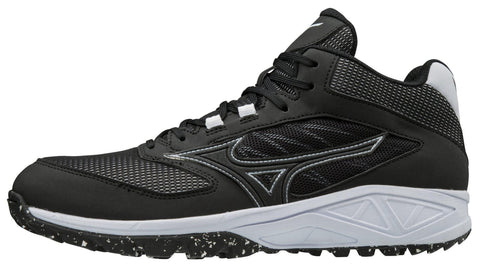 Mizuno Dominant All-Surface Mid Turf Shoe - Black White