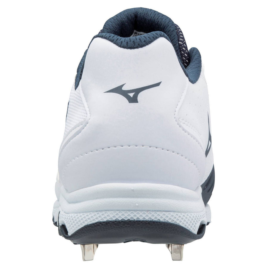 a139c7cc3b1 ... Mizuno 9-Spike Women s Advanced Sweep 4 Low Metal Cleats - White Navy