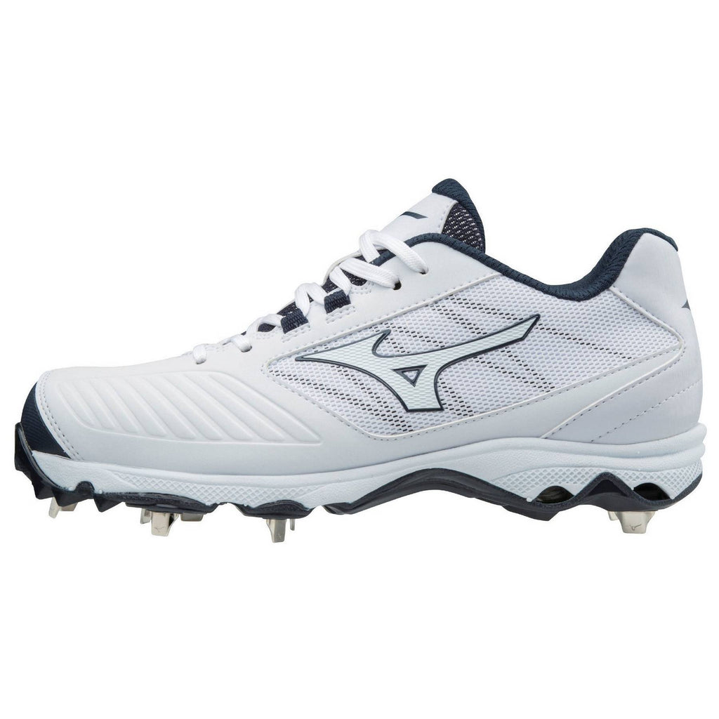 7f6d1b69365 Mizuno 9-Spike Women s Advanced Sweep 4 Low Metal Cleats - White ...