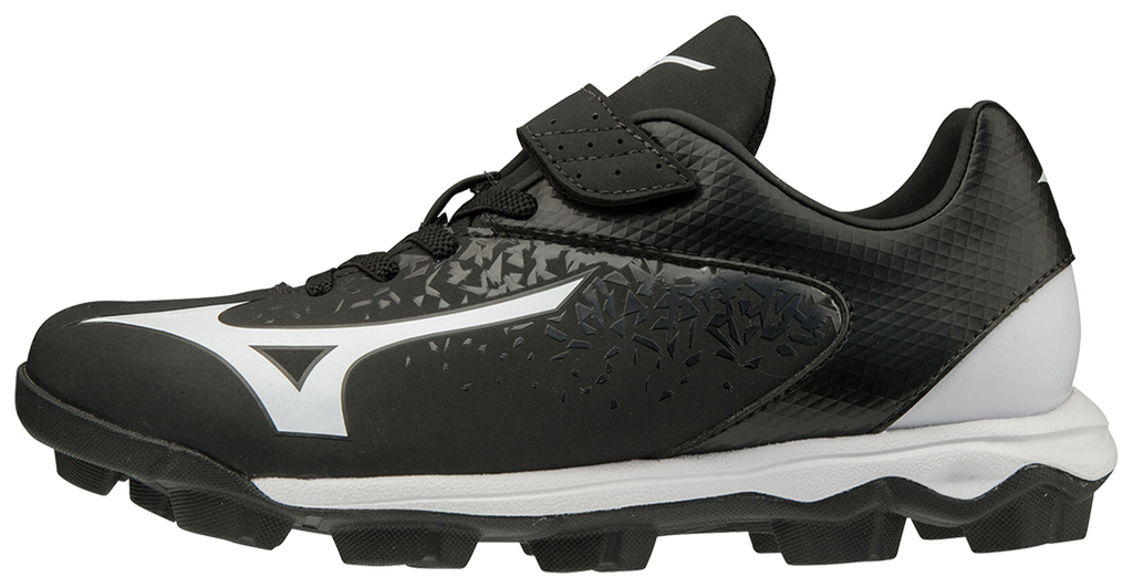 Mizuno Youth Select Nine JR Low Molded Cleats - Black White - HIT A Double