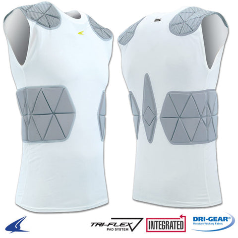 Champro FJU6 Tri-Flex Compression Shirt with Cushion System - White Gray
