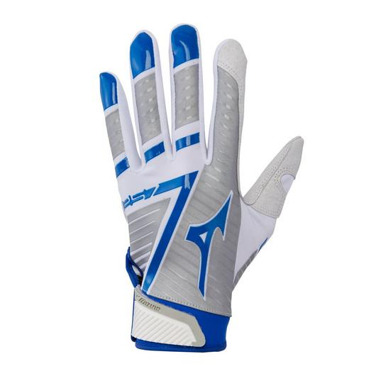 Mizuno F-257 Women s Softball Batting Gloves - White Royal – HIT A ... ab3e83224