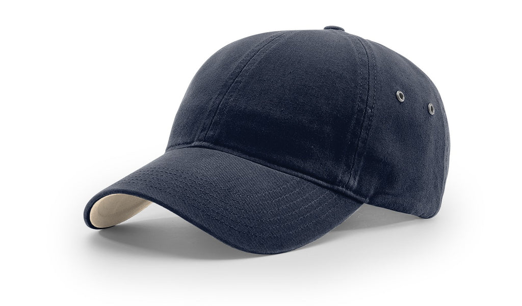 Richardson 330 Washed Chino Polo Cap - Navy