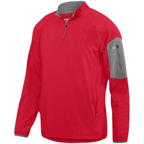 Augusta 3311 Preeminent Half-Zip Pullover - Red Graphite - HIT A Double