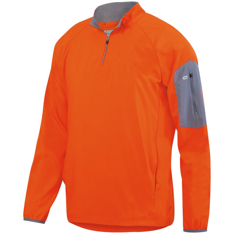 Augusta 3311 Preeminent Half-Zip Pullover - Orange Graphite - HIT A Double