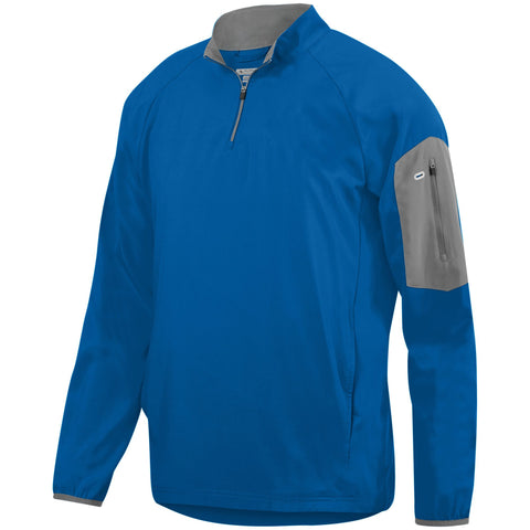 Augusta 3311 Preeminent Half-Zip Pullover - Royal Graphite - HIT A Double