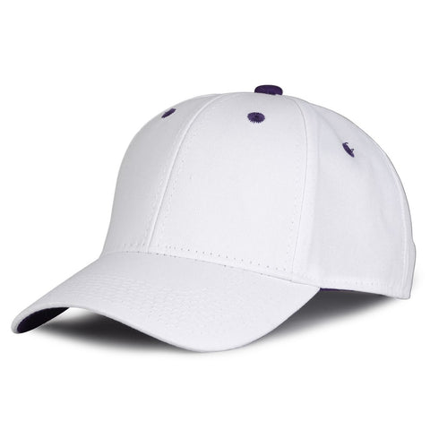 The Game GB2016 White Snapback Cotton Twill Cap - White Purple - HIT A Double