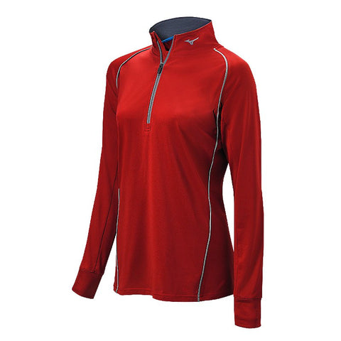 Mizuno Comp 1/2 Zip Hitting Top - Red