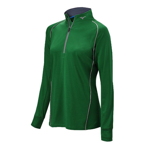 Mizuno Comp 1/2 Zip Hitting Top - Forest