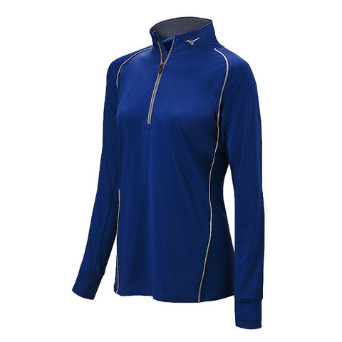 Mizuno Comp 1/2 Zip Hitting Top - Navy