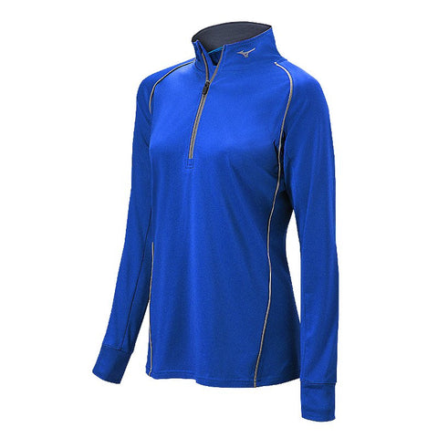 Mizuno Comp 1/2 Zip Hitting Top - Royal