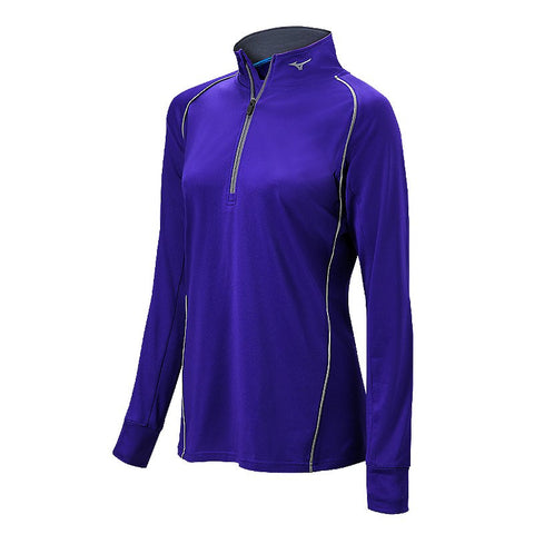 Mizuno Comp 1/2 Zip Hitting Top - Purple