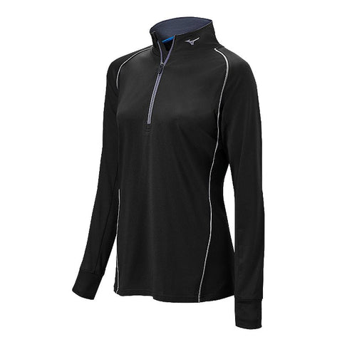 Mizuno Comp 1/2 Zip Hitting Top - Black