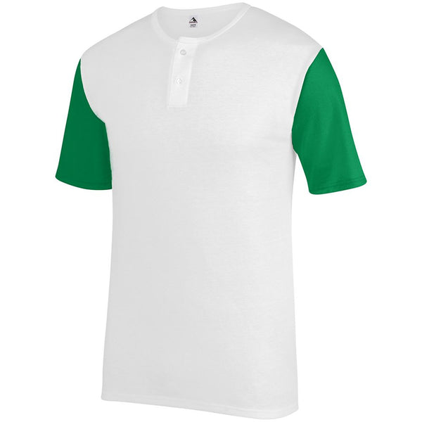 Augusta 376 Badge Jersey - White Kelly - Baseball Apparel, Causal Wear - Hit A Double