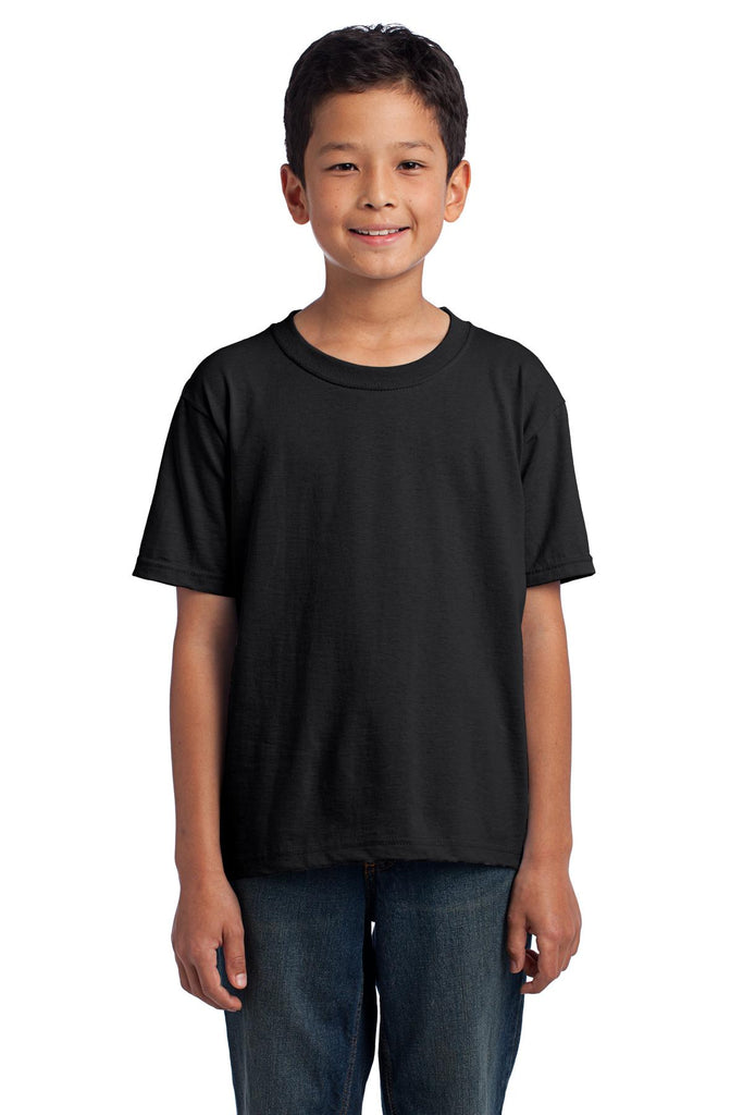 Fruit of the Loom 3930B Youth HD Cotton 100% Cotton T-Shirt - Black - HIT A Double