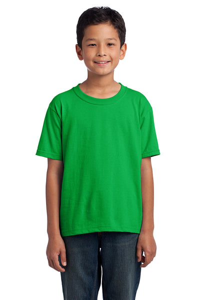 Fruit of the Loom 3930B Youth HD Cotton 100% Cotton T-Shirt - Kelly - HIT A Double