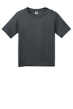 Fruit of the Loom 3930B Youth HD Cotton 100% Cotton T-Shirt - Black Heather - HIT A Double