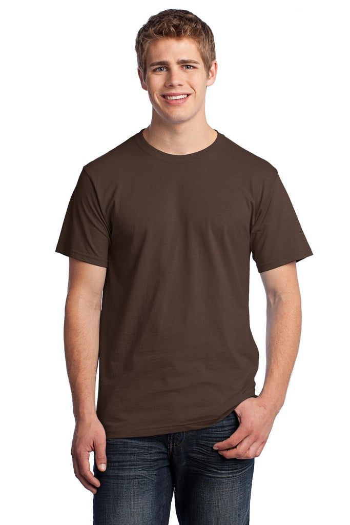 Fruit of the Loom 3930 HD Cotton 100% Cotton T-Shirt - Chocolate - HIT A Double