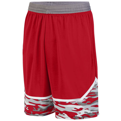 Augusta 1118 Mod Camo Game Short Youth - Red Graphite White