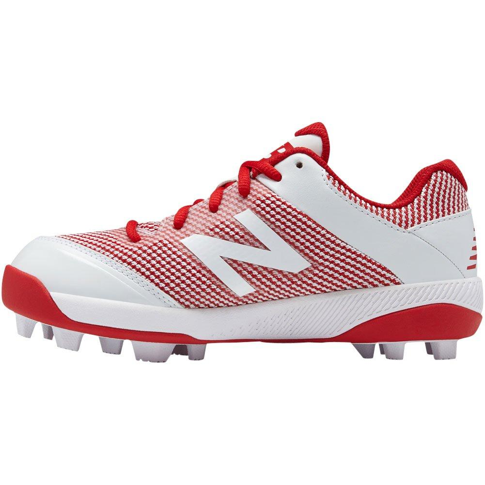 560242ab11b New Balance Youth J4040v4 Molded Baseball Cleats - Red White – HIT A ...