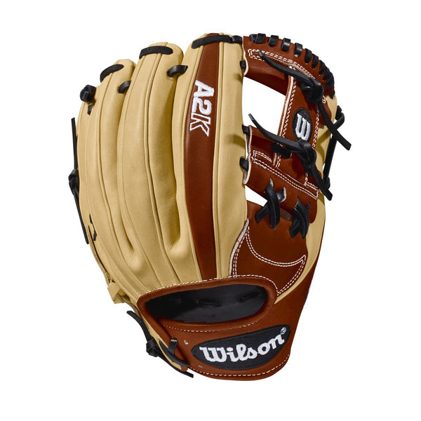 "Wilson A2K 1787 11.75"" Infield Glove WTA2KRB181787 - Cork Brown - Baseball Gloves - Hit A Double - 1"