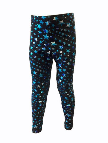Pizzazz Sport Cheer Dance Superstar Tights - Turquoise