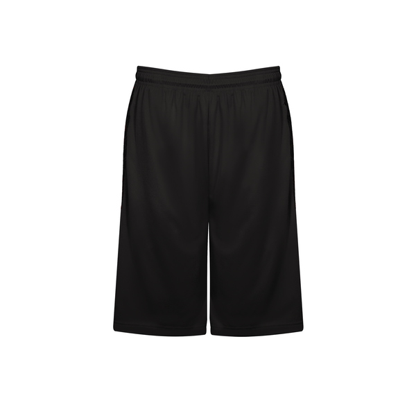 Badger 4135 Line Embossed Panel Short - Black Black Line Embossed