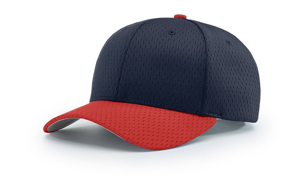 Richardson 414 Pro Mesh Adjustable Cap - Navy Red