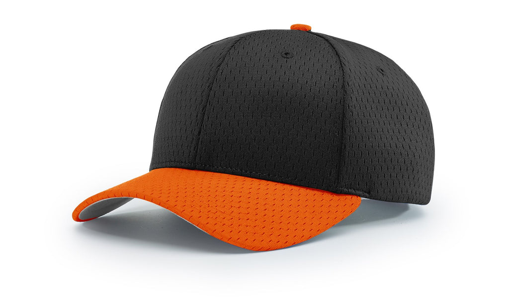 Richardson 414 Pro Mesh Adjustable Cap - Black Orange