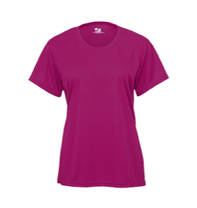 Badger 2160 B-Core Girls' Tee - Hot Pink