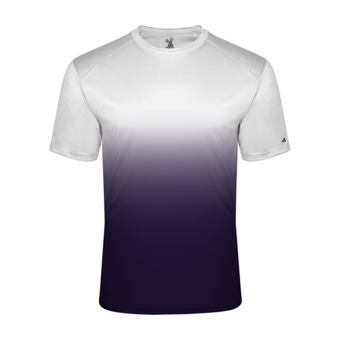 Badger 2203 Ombre Youth Tee - White Purple