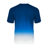 Badger 4209 Reverse Ombre Tee - Royal Ombre