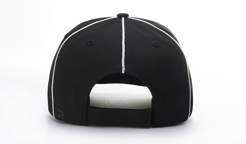 Richardson 420 Referee Surge Strapback Cap - Black White