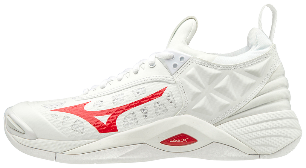 Mizuno Wave Momentum Womens Volleyball Shoes - White Red - HIT A Double