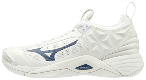 Mizuno Wave Momentum Womens Volleyball Shoes - White Navy - HIT A Double