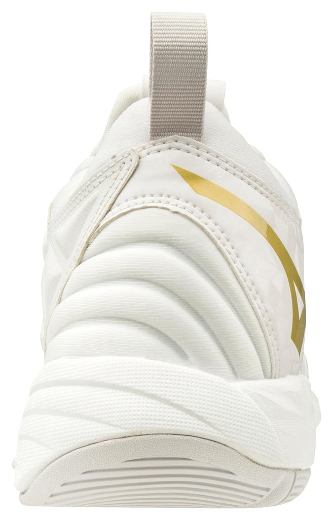 Mizuno Wave Momentum Womens Volleyball Shoes - White Gold - HIT A Double