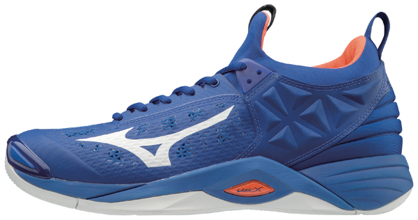 Mizuno Wave Momentum Mens Volleyball Shoes - Royal Orange - HIT A Double