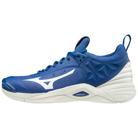 Mizuno Wave Momentum Mens Volleyball Shoes - Royal White - HIT A Double