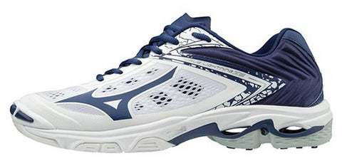 Mizuno Wave Lightning Z5 Womens Volleyball Shoes - White Navy - HIT A Double