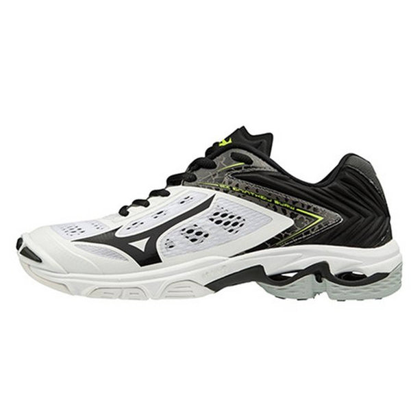 Mizuno Wave Lightning Z5 Womens Volleyball Shoes - White Black - HIT A Double